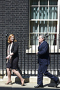 © Licensed to London News Pictures. 24/07/2012. Westminster, UK SARAH AND GORDON BROWN. The British Prime Minister David Cameron hosts a lunch today 24th July 2012 at Downing Street for HM The Queen and the Duke of Edinburgh with the Deputy Prime Minister and past Prime Ministers, Sir John Major, Tony Blair and Gordon Brown. Photo credit : Stephen Simpson/LNP