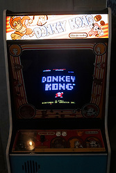 © Licensed to London News Pictures. 26/08/2021. London, UK. Donkey Kong arcade game is one of the retro arcade video games at the opening of Four Quarters arcade bar in Elephant and Castle. Thius is the groups third arcade bar opening an featyures many retro arcade games. Photo credit: Ray Tang/LNP