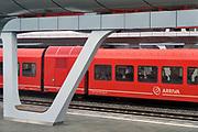 Nederland, Arnhem, 13-3-2018Op het centraal station staat een trein van vervoersmaatschappij Arriva. Foto: Flip Franssen