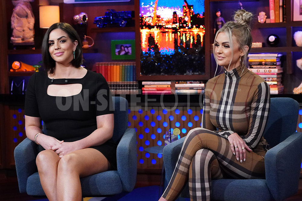 WATCH WHAT HAPPENS LIVE WITH ANDY COHEN -- Episode 18160 -- Pictured: (l-r) Katie Maloney-Schwartz, Lala Kent -- (Photo by: Charles Sykes/Bravo)