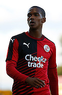 Lewis Young looking into the crowd during the Pre-Season Friendly match between Crawley Town and Brighton and Hove Albion at the Checkatrade.com Stadium, Crawley, England on 22 July 2015. Photo by Michael Hulf.