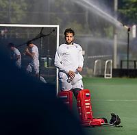BLOEMENDAAL - Eerste training van Bloemendaal HI voor het nieuwe seizoen, keeper Rick Schrijvers.   COPYRIGHT KOEN SUYK