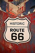 Route 66 sign at Snowcap Drive-in in Seligman Arizona