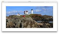 The Nubble Lighthouse at Cape Neddick, Maine, USA