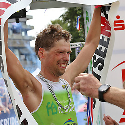 Glücksburg, 02.08.15, Sport, Triathlon, 14. OstseeMan, 2015 : Thijs Koelen (NED, Triathlon Club Twente, #555), 2.Platz Einzel (08:44:48)<br /> <br /> Foto © P-I-X.org *** Foto ist honorarpflichtig! *** Auf Anfrage in hoeherer Qualitaet/Aufloesung. Belegexemplar erbeten. Veroeffentlichung ausschliesslich fuer journalistisch-publizistische Zwecke. For editorial use only.