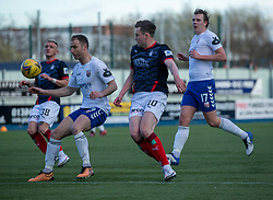 20MAR21 Montrose Sean Dillon and Falkirk's Anton Dowds. Falkirk 2 v 0 Montrose, Scottish Football League Division One game played 20/3/2021 at The Falkirk Stadium.