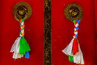 Prayer flags, Tashilhunpo Monastery, Shigatse, Tibet China.