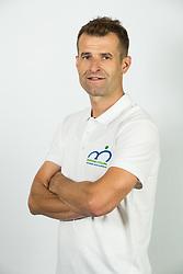 Andrej Hauptman, head coach during photo session of Slovenian Cycling Team for 2018 UCI Road World Championships Innsbruck, on September 17, in Spodnji Brnik, Slovenia. Photo by Vid Ponikvar / Sportida