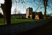 St Bartholomew Church, 12th Century Norman tower, Fingest, Buckinghamshire, United Kingdom
