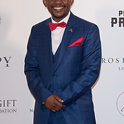 Sello Hatang Arrive The Nelson Mandela Foundation hosts dinner in memory of Nelson Mandela on what would have been the day before his 100 birthday on 24 April 2018 at Rosewood Hotel, London, UK.