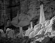 Aggregate boulders on siltstone pedestal formations, Grand Staircase-Escalante National Monument, Utah  2002