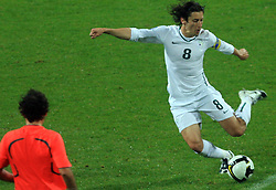 Robert Koren (8) at the fourth round qualification game of 2010 FIFA WORLD CUP SOUTH AFRICA in Group 3 between Slovenia and Northern Ireland at Stadion Ljudski vrt, on October 11, 2008, in Maribor, Slovenia.  (Photo by Vid Ponikvar / Sportal Images)
