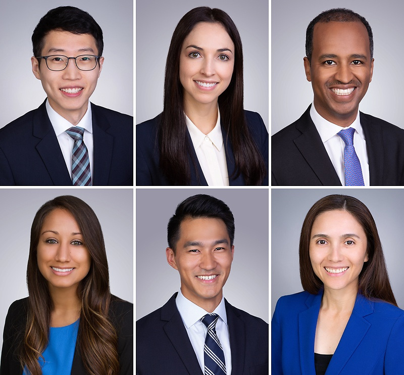 Some sample medical residency headshot, with formal yet friendly look of men and women applicants