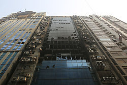 March 29, 2019 - Dhaka, Bangladesh - View of the burned out high rise building in Dhaka, Bangladesh. At least 25 people were killed and 70 others injured in a fire that broke out at 22-story FR tower in Dhaka. (Credit Image: © Rehman Asad/NurPhoto via ZUMA Press)