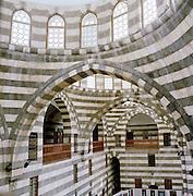 The Khan As'ad Pasha, an ancient caravanseri in the Al-Buzuruyah Souq in Damascus, Syria