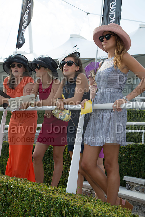 ANNABEL KINGSMAN; LUCY YATES; EMMA WELBY; ISABEL HARVEY KELLY, Glorious Goodwood. Thursday.  Sussex. 3 August 2013