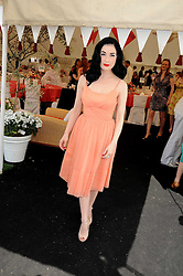 DITA VON TEESE at the Cartier International Polo at Guards Polo Club, Windsor Great Park on 27th July 2008.<br /> <br /> NON EXCLUSIVE - WORLD RIGHTS