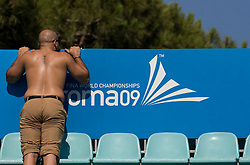 Spectator at Women Waterpolo match between National Teams of Germany and Canada at 13th FINA World Championships Rome 2009, on July 25 2009, at Foro Italico, Rome, Italy. (Photo by Vid Ponikvar / Sportida)