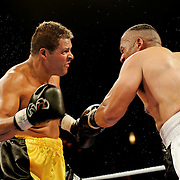 June 19, 2009 - Richmond, BC - Rumble at the Rock IV - Lightweight fighters Stacey Migley of Abbotsford, BC, and Tiny Brown of Vancouver, squared off in a four round non-title bout..Migley (3-1) won a unanimous decision over Vancouver's Brown (2-2) in the cruiserweight fight..The River Rock Casino Resort hosted the West Coast Promotions Rumble at the Rock VI boxing event at the River Rock Show Theatre.