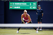 Beatriz Haddad Maia of Brazil  during the Women's Singles Quarter Final at the Fuzion 100 Ilkley Lawn Tennis Trophy Tournament held at Ilkley Lawn Tennis and Squad Club, Ilkley, United Kingdom on 19 June 2019.