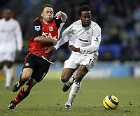 Fotball<br /> Premier League 2004/05<br /> Bolton v Blackburn<br /> 28. desember 2004<br /> Foto: Digitalsport<br /> NORWAY ONLY<br /> Paul Dickov can't get past Ricardo Gardner