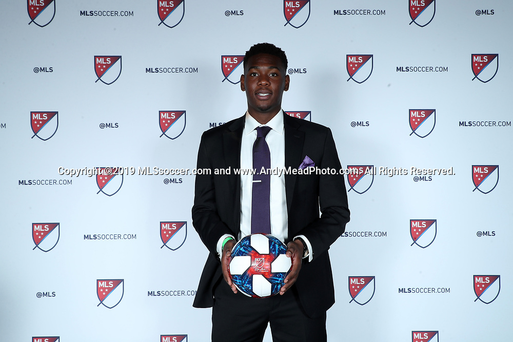 CHICAGO, IL - JANUARY 11: Kamal Miller was taken with the 27th overall pick by Orlando City SC. The MLS SuperDraft 2019 presented by adidas was held on January 11, 2019 at McCormick Place in Chicago, IL.