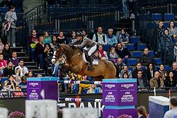 SCHOONBROODT-DE AZEVEDO Celine (BEL), Cheppetta<br /> Stuttgart - German Masters 2019<br /> LONGINES FEI Jumping World Cup™ 2019/2020<br /> Großer Preis von Stuttgart mit Mercedes-Benz, WALTER solar und BW-Bank<br /> Int. Springprüfung mit Stechen - CSI5*-W<br /> Qualifikation zum Weltcup Finale<br /> 17. November 2019<br /> © www.sportfotos-lafrentz.de/Stefan Lafrentz