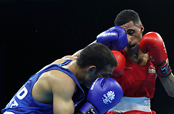 England's Galal Yafai (right) and India's Amit in the Men's Light Fly Final at Oxenford Studios during day ten of the 2018 Commonwealth Games in the Gold Coast, Australia.