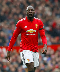 "Manchester United's Romelu Lukaku during the Premier League match at Old Trafford, Manchester. PRESS ASSOCIATION Photo. Picture date: Saturday February 3, 2018. See PA story SOCCER Man Utd. Photo credit should read: Martin Rickett/PA Wire. RESTRICTIONS: EDITORIAL USE ONLY No use with unauthorised audio, video, data, fixture lists, club/league logos or ""live"" services. Online in-match use limited to 75 images, no video emulation. No use in betting, games or single club/league/player publications."