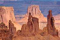 Washerwoman Arch and Monster Tower, Canyonlands National Park Utah USA