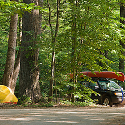 The campground at White Lake State Park in Tamworth, New Hampshire.
