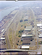 "Ackroyd C04372-2 ""Portland Terminal Railroad. Aerial. Willbridge. July 21, 1977"" (Gunderson on left)"