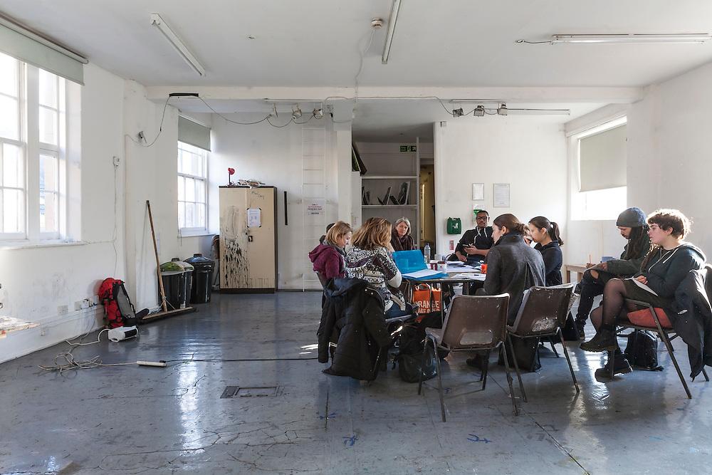 Studio Practice at The Art Academy, Mermaid Court, 165A Borough High Street, London, England, on 16th January 2017