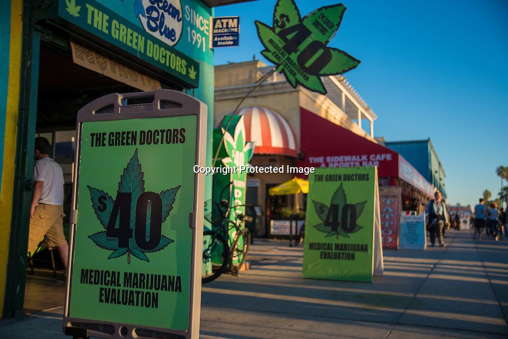 The Green Doctors medical marijuana dispensary on the boardwalk at Venice, CA.