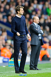 Caretaker Manager Tim Sherwood (ENG) of Tottenham Hotspur gestures on the touchline as Manager Pepe Mel (ESP) of West Brom looks on - Photo mandatory by-line: Rogan Thomson/JMP - 07966 386802 - 12/04/2014 - SPORT - FOOTBALL - The Hawthorns Stadium - West Bromwich Albion v Tottenham Hotspur - Barclays Premier League.