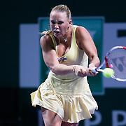 Denmark's Caroline Wozniacki during their TEB BNP Paribas WTA Championships at Sinan Erdem Arena in Istanbul Turkey on Tuesday, 25 October 2011. Photo by TURKPIX