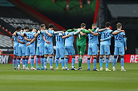 Football - 2020 / 2021 Sky Bet Championship - AFC Bournemouth vs. Coventry City - The Vitality Stadium<br /> <br /> The Players stand for the two minutes silence I'm memory of HRH Prince Phillip The Duke of Edinburgh who past away yesterday  <br /> <br /> COLORSPORT/SHAUN BOGGUST