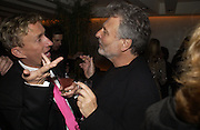 Jasper Conran and Edina Ronay's husband Dick Polak. The Vogue Winter party to celebrate the Vogue List. Nobu Berkeley. London.   8 November 2005 . ONE TIME USE ONLY - DO NOT ARCHIVE © Copyright Photograph by Dafydd Jones 66 Stockwell Park Rd. London SW9 0DA Tel 020 7733 0108 www.dafjones.com