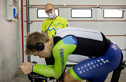 Jan Tratnik of Slovenia and Ezio Bozzolo of Team Slovenia at warming up during Men Time Trial at UCI Road World Championship 2020, on September 24, 2020 in Imola, Italy. Photo by Vid Ponikvar / Sportida