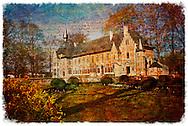 Groot-Bijgaarden Castle, Belgium - Forgotten Postcard digital art collage