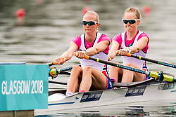 August 3, 2018 - Glasgow, UNITED KINGDOM - 180803 Maia Lund (bow) and Siri Eva Kristiansen (stroke) of Norway compete in the Lightweight Women's Rowing Double Sculls repechage during the European Championships on August 3, 2018 in Glasgow..Photo: Jon Olav Nesvold / BILDBYRÃ…N / kod JE / 160281 (Credit Image: © Jon Olav Nesvold/Bildbyran via ZUMA Press)