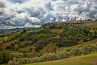 Known as the Town of Fine Towers, San Gimignano, Italy is famous for its medieval architecture.