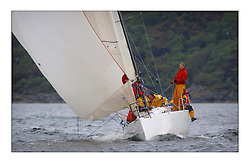 Yachting- The first days inshore racing  of the Bell Lawrie Scottish series 2003 at Tarbert.  Light shifty winds dominated the racing...Jack Thom's Sanguma...Pics Marc Turner / PFM
