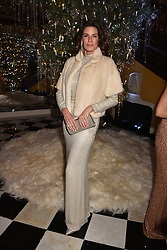 Christina Estrada at reception to celebrate the launch of the Claridge's Christmas Tree 2017 at Claridge's Hotel, Brook Street, London England. 28 November 2017.<br /> Photo by Dominic O'Neill/SilverHub 0203 174 1069 sales@silverhubmedia.com
