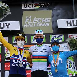 21-04-2021: Wielrennen: Waalse Pijl Elite Men: Huy<br />Primoz Roglic, Julian Alaphillipe, Alejandro Valverde