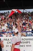 St Catherines, CANADA,  Men's Singel Sculls NZL M1X Rob WADDELL and CAN M1X Derek PORTER. 1999 World Rowing Championships - Martindale Pond, Ontario. 08.1999..[Mandatory Credit; Peter Spurrier/Intersport-images]    .... 1999 FISA. World Rowing Championships, St Catherines, CANADA