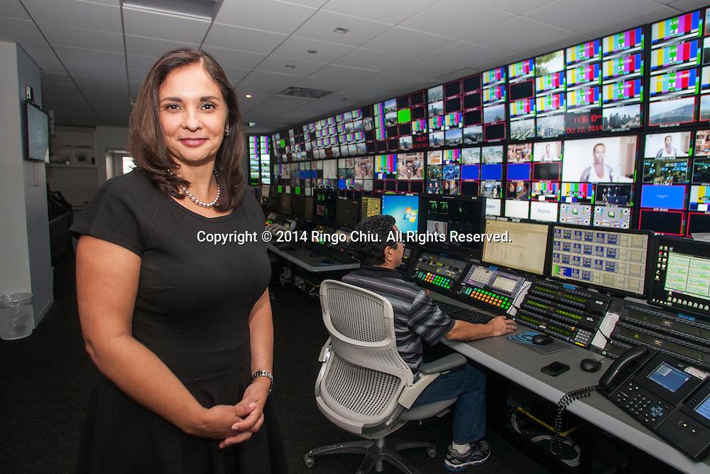 Celia Chavez, President and General Manager of KVEA, in the newsroom.(Photo by Ringo Chiu/PHOTOFORMULA.com)