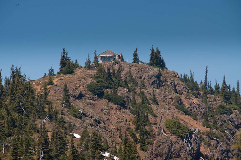 Desolation Peak Summit and Fire Lookout, North Cascades National Park, Washington, US