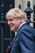 Boris Johnson, Britain's Prime Minister Leaves Downing Street in London, Wednesday, Sept. 2, 2020. Britain's parliament returned Tuesday after the summer break.(VXP Photo/ Vudi Xhymshiti)