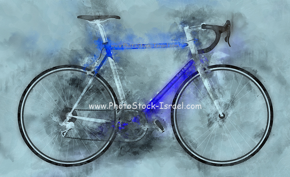 Digitally enhanced image of a sports bicycle